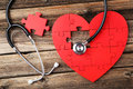 Red Puzzle Heart Royalty Free Stock Images - 54899139