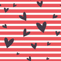 Seamless  Striped Pattern With Hearts. Stock Photos - 54905373