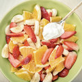 Fruit Salad With Sour Cream Royalty Free Stock Image - 54912646
