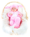 Funny Newborn Baby Dressed In Easter Bunny  Suit Royalty Free Stock Photo - 54917105