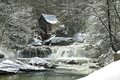 Glade Creek Grist Mill In Winter Royalty Free Stock Image - 54917186