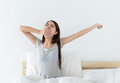 Asian Woman Just Wake Up Stock Photography - 54927252