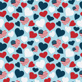 Usa Heart Pattern Stock Images - 54936714