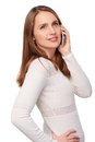 Woman Talking On Cell Phone Royalty Free Stock Photo - 54941095