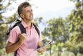 Middle Aged Man Hiking Through Countryside Stock Photography - 54941232