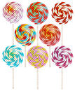 Candy On Stick With Twisted Design. EPS 10 Royalty Free Stock Photo - 54943615