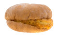 Chicken Sandwich Side View On White Background Stock Image - 54947721