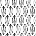 Watercolor Hand Drawn Vector Leaf Seamless Pattern. Abstract Gru Royalty Free Stock Image - 54957566