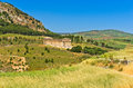 Landscape Of Sicily With Old Greek Temple At Segesta Royalty Free Stock Images - 54959549