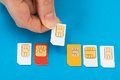Person Hand With Sim Cards Stock Photos - 54986293