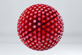 Sphere Made Of Red Cubes. 3D Render Image. Royalty Free Stock Image - 54987276