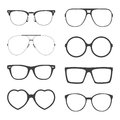 Vector Set Of Sunglasses Frames Royalty Free Stock Image - 54996046