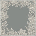 Lily. Lace. Frame. Stock Image - 54998071