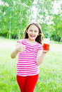 Kid With Juice Royalty Free Stock Photo - 54998525