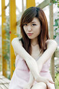 A Chinese Girl In Summer . Stock Photos - 5505813