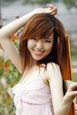 A Chinese Girl In Summer . Royalty Free Stock Photography - 5507687