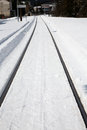 Winter Rail Line Stock Images - 55014614