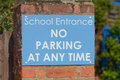 School Entrance - No Parking At Any Time Sign Royalty Free Stock Images - 55018259