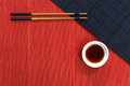 Straw Mat And Chopsticks Royalty Free Stock Photos - 55026598