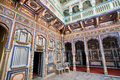 Colorful Frescoes Inside An Old Indian House Stock Photo - 55028620