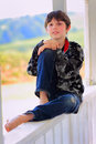 Relaxed Tween Royalty Free Stock Photography - 55043347