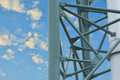 Steel Structure Of The Column Stack. Royalty Free Stock Images - 55049529