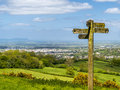Cotswold Way Panorama Across Green Fields Stock Images - 55049794