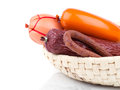 Variety Of Sausage Products. Royalty Free Stock Photography - 55055357