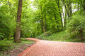 Image Of Red Stone Walkway In The Park Royalty Free Stock Image - 55058236