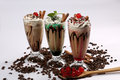 Frappe Coffee With Different Flavours Royalty Free Stock Photography - 55061527