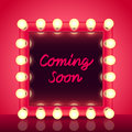 Coming Soon Concept With Makeup Mirror Vector Royalty Free Stock Photo - 55064215