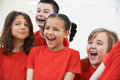 Group Of Children Enjoying Drama Class Together Royalty Free Stock Images - 55064989