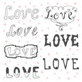 Love. Valentine&x27;s Day Typography Elements. Sketchy Doodles Desig Stock Photo - 55081080