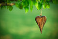 Wooden Shape Of Heart Stock Photography - 55084992