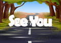 See You Wallpaper Background Royalty Free Stock Image - 55099726