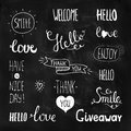 Vector Photo Overlays, Hand Drawn Lettering Royalty Free Stock Photos - 55104888