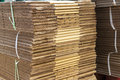 Stacked Brown Corrugated Cardboard Boxes Stock Photography - 55110632