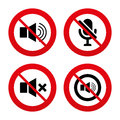 Player Control Icons. Sound, Microphone And Mute Royalty Free Stock Photos - 55114358