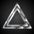 Abstract Metallic Triangle Logo Design Template Royalty Free Stock Photography - 55125877