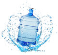 Big Water Bottle In Water Splash Isolated On White Background Royalty Free Stock Photography - 55131367