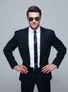 Young Serious Businessman In Sunglasses Stock Photo - 55131700
