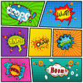 Comic Speech Bubbles Background Divided By Lines Vector Stock Photography - 55140642