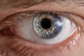 Man Eye With Contact Lens. Stock Images - 55145214