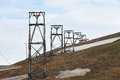 View To The Abandoned Arctic Coal Mine Equipment In Longyearbyen, Norway. Stock Photography - 55153362
