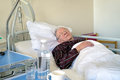 Elderly Man Recuperating In A Hospital Stock Photo - 55157920