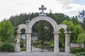Gate At The Entrance To The Monastery Stock Photo - 55160010
