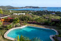 Pool And Vista Over Falmouth Harbour Royalty Free Stock Photo - 55160455