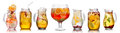 Collection Of Different Drinks Royalty Free Stock Image - 55166276