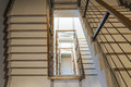 Staircase With Wooden Rail Royalty Free Stock Image - 55170636