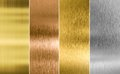 Stitched Silver, Gold And Bronze Metal Texture Stock Image - 55171201